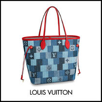 Louis Vuitton MONOGRAM Monogram Casual Style Unisex Canvas Denim Blended Fabrics A4