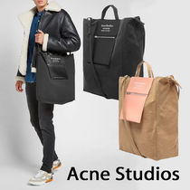 Acne Casual Style Unisex Canvas A4 2WAY Totes
