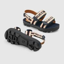 GUCCI Blended Fabrics Street Style Kids Girl Sandals