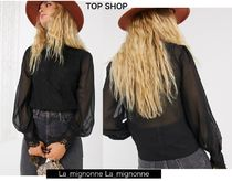 TOPSHOP Casual Style Long Sleeves Plain Party Style Elegant Style