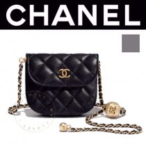 CHANEL ICON Casual Style Street Style 2WAY Chain Plain Handmade