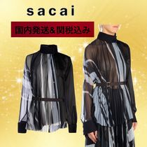sacai Stripes Casual Style Party Style Elegant Style