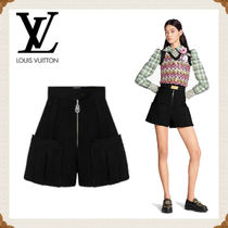 Louis Vuitton Short Casual Style Wool Silk Plain Elegant Style Shorts