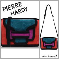 Pierre Hardy Suede 2WAY Leather Elegant Style Shoulder Bags