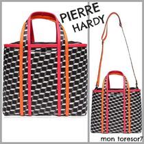 Pierre Hardy Casual Style A4 2WAY Leather Elegant Style Totes