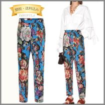 Dries Van Noten Flower Patterns Long Pants