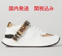 Burberry Street Style Leather Low-Top Sneakers