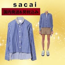 sacai Stripes Casual Style Cotton Party Style Shirts & Blouses
