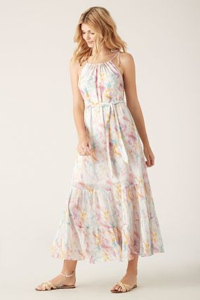 Casual Style Maxi Silk Sleeveless Cotton Long Party Style