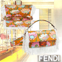 FENDI BAGUETTE Flower Patterns Casual Style 2WAY Party Style