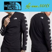 THE NORTH FACE Crew Neck U-Neck Long Sleeves Cotton Logos on the Sleeves