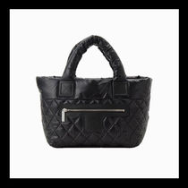CHANEL COCO COCOON Casual Style Elegant Style Logo Totes