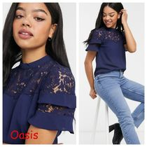 Oasis Plain Medium Short Sleeves Party Style Lace Office Style