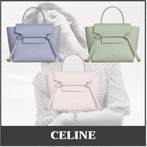 CELINE Belt Casual Style Calfskin 2WAY Leather Party Style Office Style