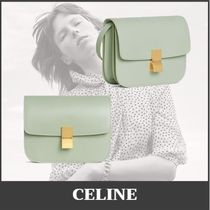 CELINE Classic Casual Style Calfskin Lambskin Leather Party Style