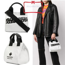 D SQUARED2 Leather Totes