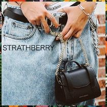 STRATHBERRY Casual Style Calfskin 2WAY Plain Party Style Shoulder Bags