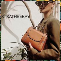 STRATHBERRY Casual Style Calfskin 2WAY Shoulder Bags