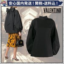 VALENTINO Short Long Sleeves Plain Oversized Puff Sleeves Cropped