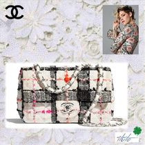 CHANEL Other Plaid Patterns Casual Style Chain Elegant Style
