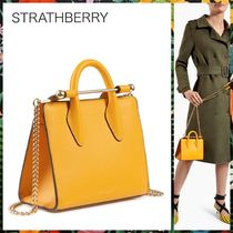 STRATHBERRY Casual Style 2WAY Leather Shoulder Bags