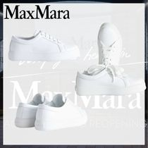 MaxMara Lace-up Casual Style Leather Party Style Elegant Style