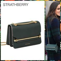 STRATHBERRY Casual Style Calfskin 2WAY Plain Party Style Elegant Style