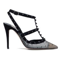 VALENTINO Studded Pin Heels Party Style Elegant Style Formal Style