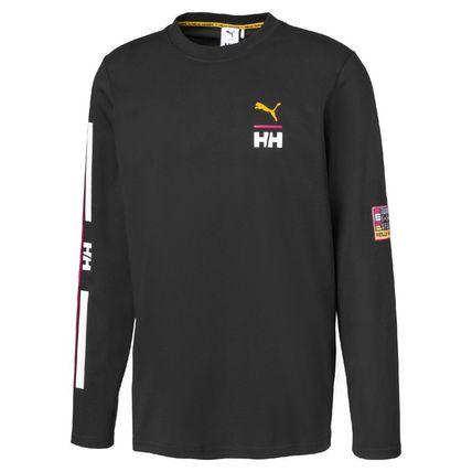 Crew Neck Collaboration Long Sleeves Logos on the Sleeves