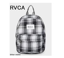RVCA Gingham Casual Style Street Style Backpacks
