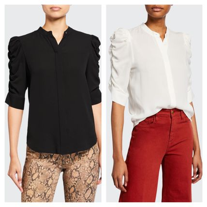 Cropped Plain Shirts & Blouses