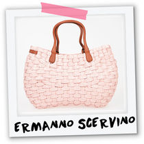 ERMANNO SCERVINO PVC Clothing Straw Bags