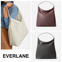 Everlane Casual Style A4 Plain Leather Office Style Handbags