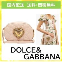 Dolce & Gabbana Heart Lambskin Chain With Jewels Shoulder Bags