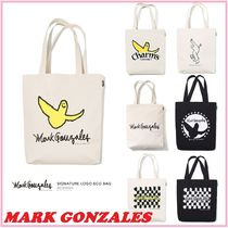Mark Gonzales Unisex Canvas Street Style Collaboration A4 2WAY Plain