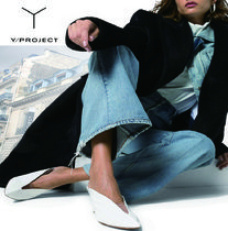 Y PROJECT Casual Style Plain Leather Office Style Elegant Style