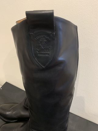 GUCCI Plain Logo Engineer Boots