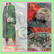GUCCI Flower Patterns Casual Style Blended Fabrics Tassel 2WAY
