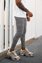 SINNERS ATTIRE Gingham Other Plaid Patterns Street Style Skinny Jeans