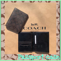 Coach SIGNATURE Unisex Leather PVC Clothing Wallets & Card Holders