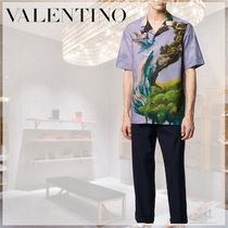VALENTINO Button-down Cotton Short Sleeves Shirts