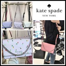 kate spade new york CAMERON STREET Flower Patterns Casual Style Saffiano 2WAY Plain