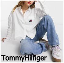 Tommy Hilfiger Casual Style Long Sleeves Plain Shirts & Blouses