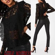 Little Mistress Long Sleeves Lace Shirts & Blouses