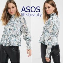 ASOS Flower Patterns Casual Style Chiffon Office Style