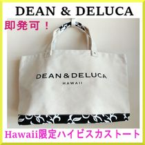 DEAN&DELUCA Flower Patterns Casual Style A4 Totes