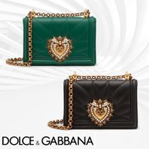 Dolce & Gabbana Leather Elegant Style Shoulder Bags