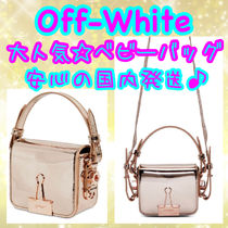 Off-White BINDER CLIP Casual Style Street Style 2WAY Plain Leather Party Style