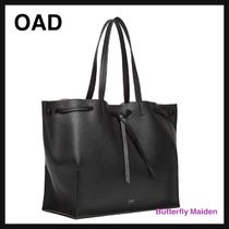 OAD NEW YORK Casual Style Plain Leather Office Style Totes