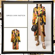 Dries Van Noten Flower Patterns Casual Style Long Party Style Elegant Style